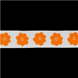 Riley Blake 5/8'' Grosgrain Ribbon Flower Orange