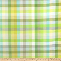 Isaac Mizrahi Spectrum Plaid Silk Kiwi