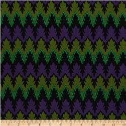 ITY Jersey Knit Groove Purple/Green