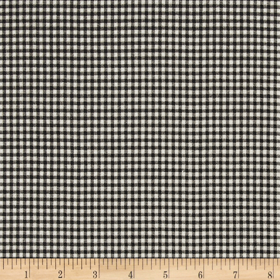 Magnolia Home Fashions Madrid Check Black Fabric