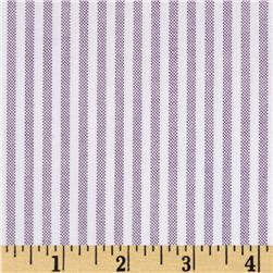 Kaufman Oxford Yarn Dyed Large Stripe Grape Fabric