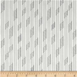 Kaufman Drawn Thin Stripe Pewter