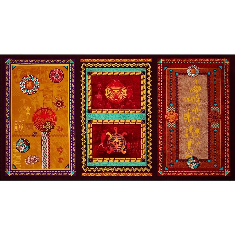 Whispering Rocks Indian Motif Panel Multi