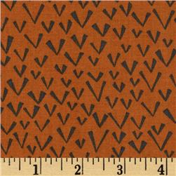 Fabric Freedom Quirky Floral Quirky Ditz Orange