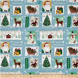 Gina Linn A Time Of Wonder Christmas Patch Light Blue