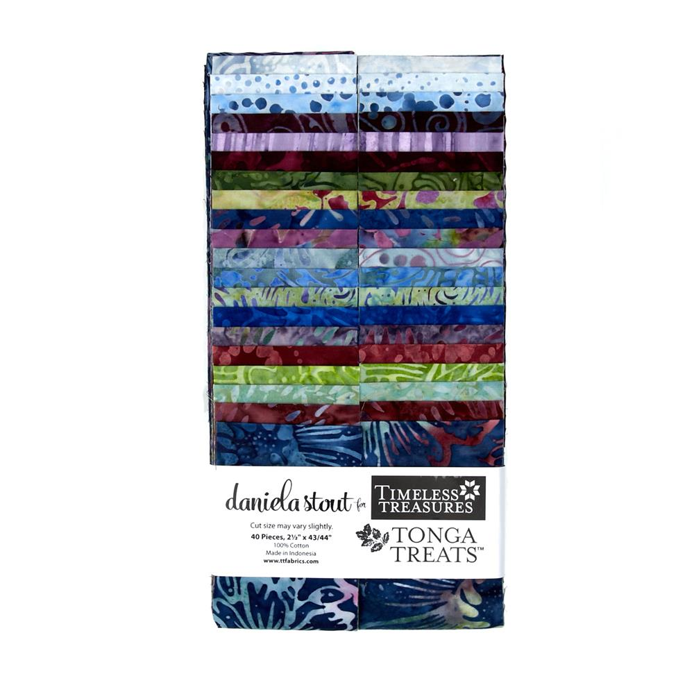 "Timeless Treasures Tonga Batik Treats Zen 2.5"" Strips"