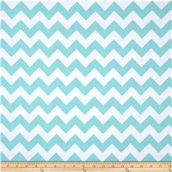 Riley Blake Wide Cut Chevron Medium Aqua Fabric