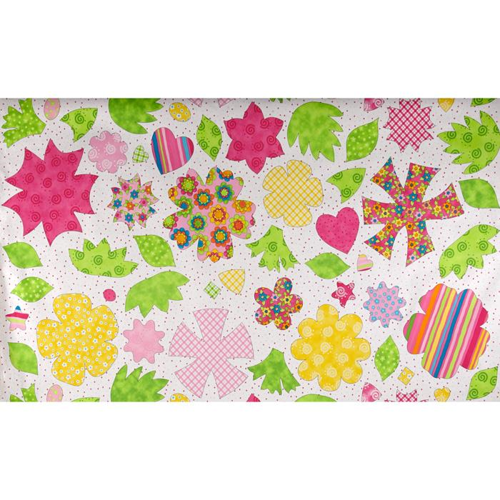Moda Petal Pushers Sticky Panel Pink