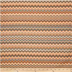 A.E. Nathan Chevron Orange/Grey/White Fabric