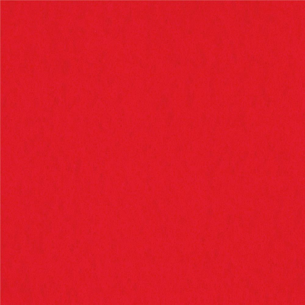 "Rainbow Classic Felt 72"" x By the Yard Craft Felt Coral Red"