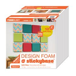 "Foamology Twelve Piece Design Foam Tile, Soft  12"" x 12"" x 1"""