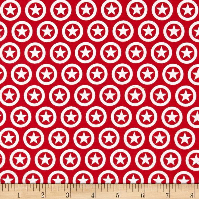 Riley Blake Lucky Star Circle Red