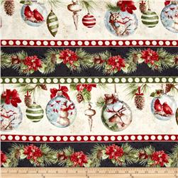 Woodland Holiday Repeating Stripe Multi