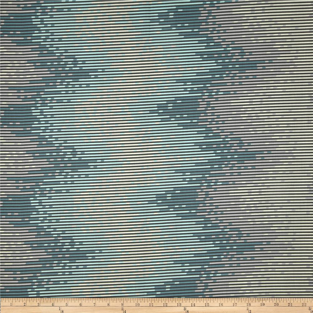 Salt Water Sea Stripes Aqua