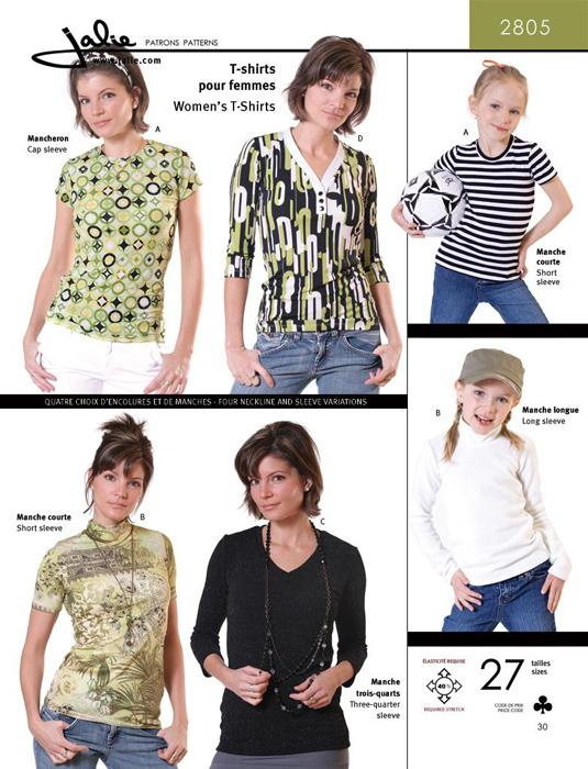 Jalie Great T Shirts Pattern Discount Designer Fabric Fabric