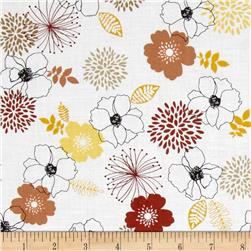 Birds and Blooms Full Bloom Yellow/Multi Fabric