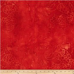 Indian Batik Abstract Red
