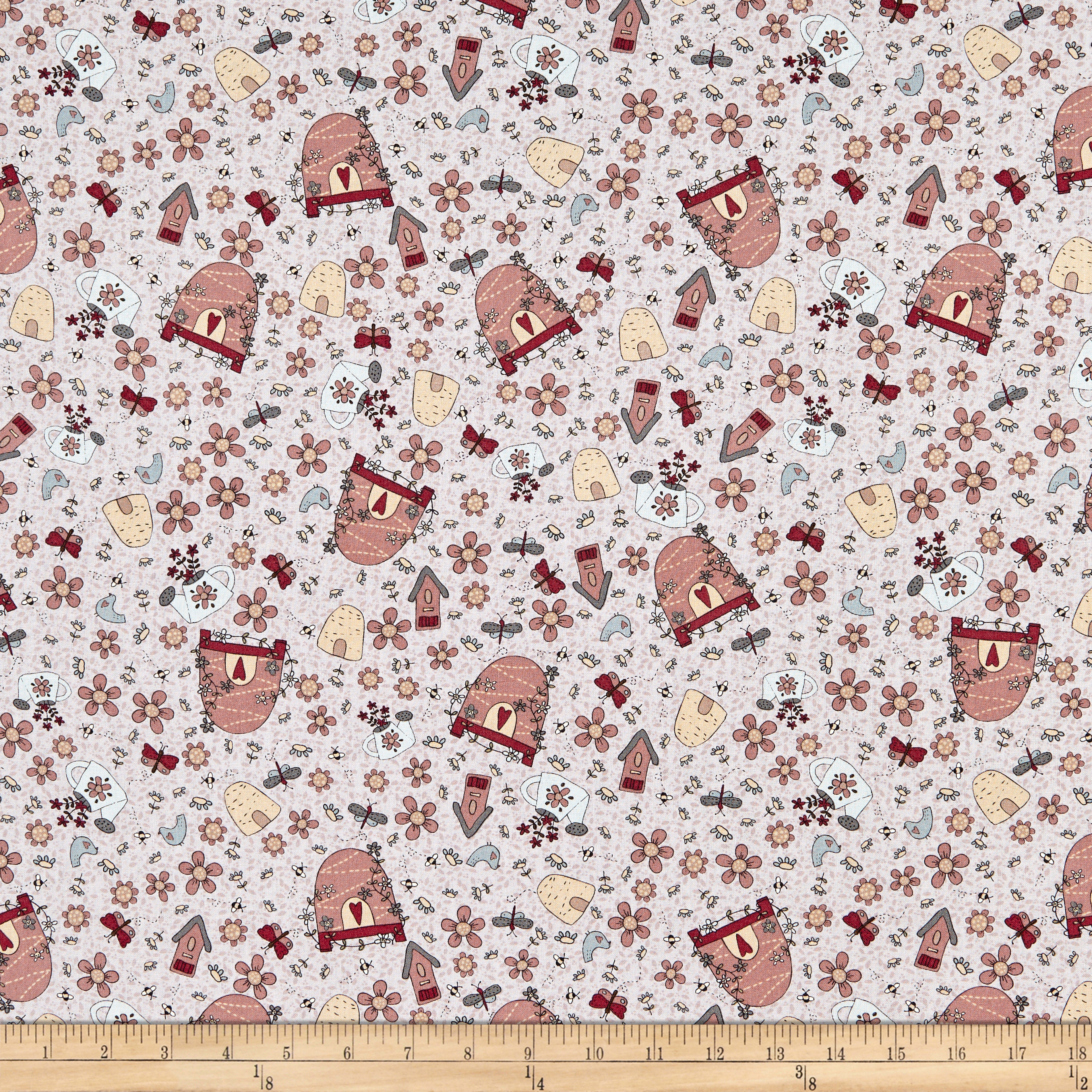 INOpets.com Anything for Pets Parents & Their Pets Lecien Sweet Garden Of Mine Garden Toss Light Purple Fabric