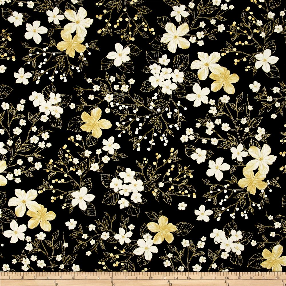 Kanvas New Traditions Metallic Gilded Garden Black