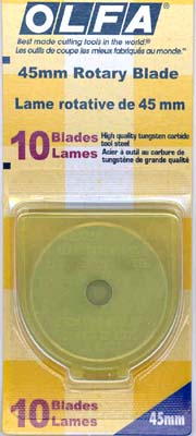 Blade - 45 mm Rotary cutter - 10 pack