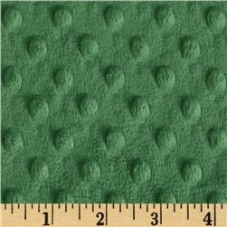Minky Cuddle Dimple Dot Olive Fabric