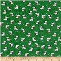 Storybook Christmas Scotties Green