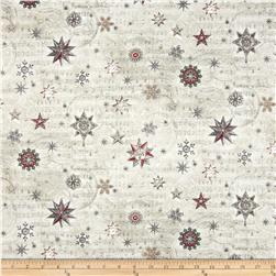 Holiday Shimmer Metallic Stars/Snowflakes Grey/Silver