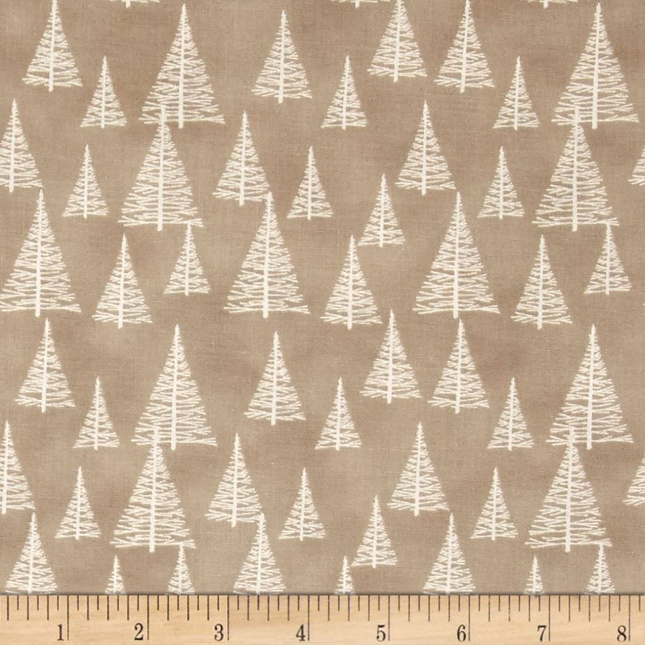 Silent Christmas Tossed Trees Tan