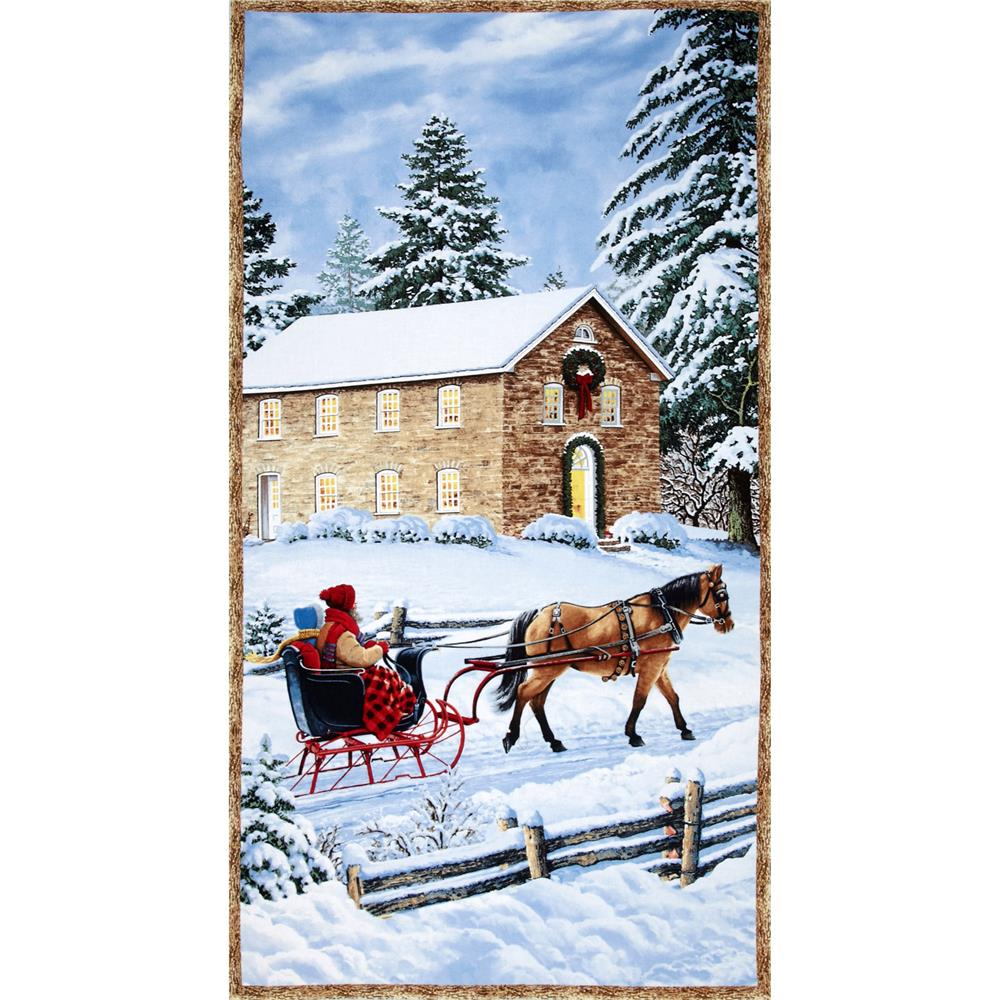 Sleigh Ride Panel Multi Fabric By The Yard
