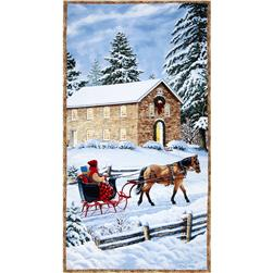 Sleigh Ride 24 In. Panel Multi