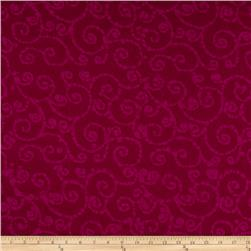 Indian Batik East Side Scroll Purple