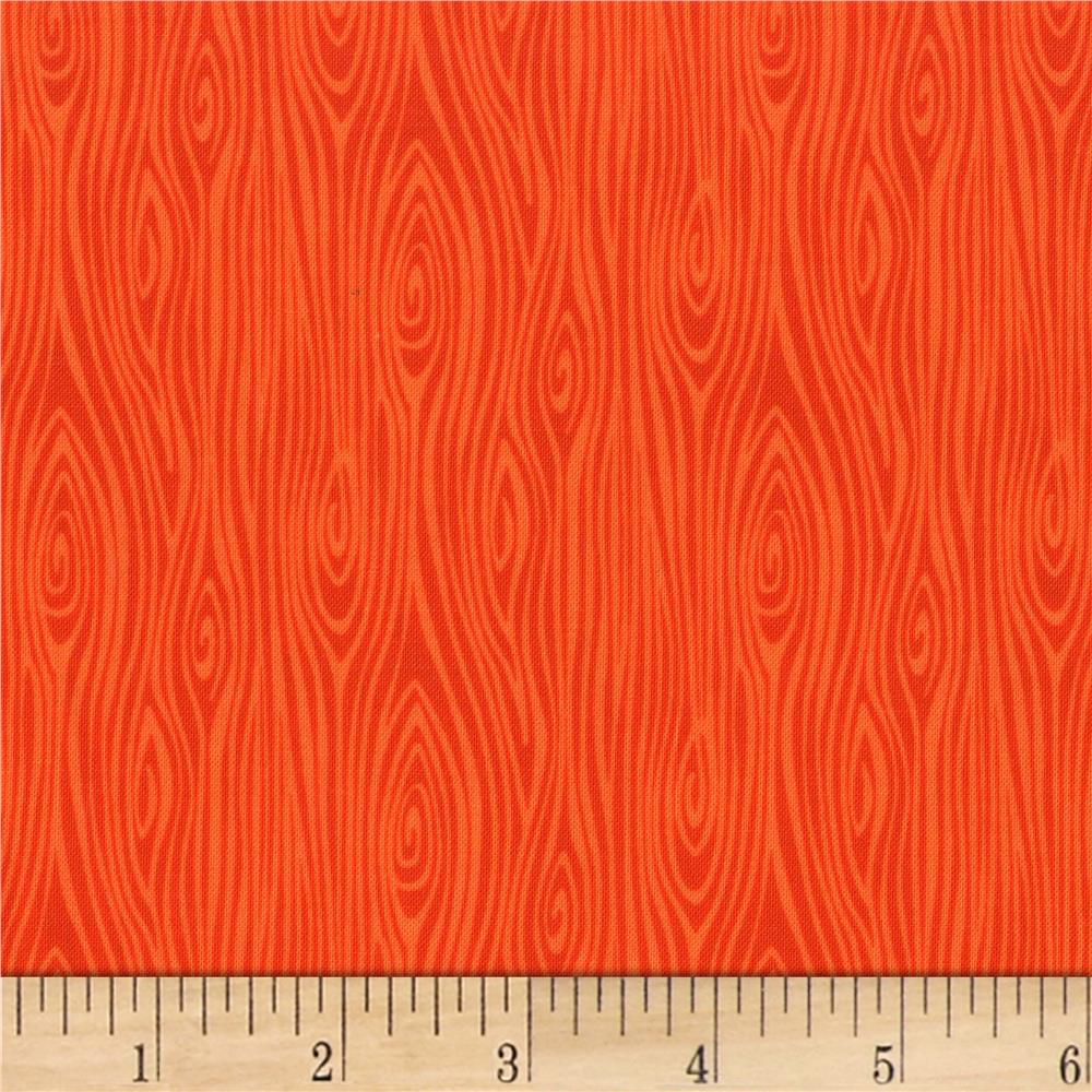 Michael Miller Tools Of The Trade Just Wood Knot Orange