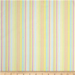 Kanvas Bunny Hop Flannel Soft Stripe Lemon