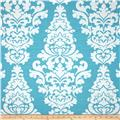 Premier Prints Berlin Slub Coastal Blue