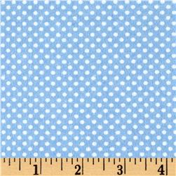 Cuddle Flannel Dots Blue