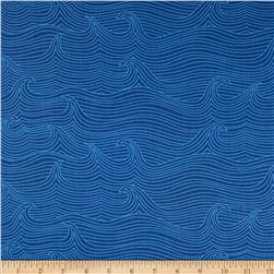 True Blue Babbling Brook Navy Fabric