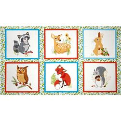 Robert Kaufman Forest Fellow 24 In. Block Panel Wild