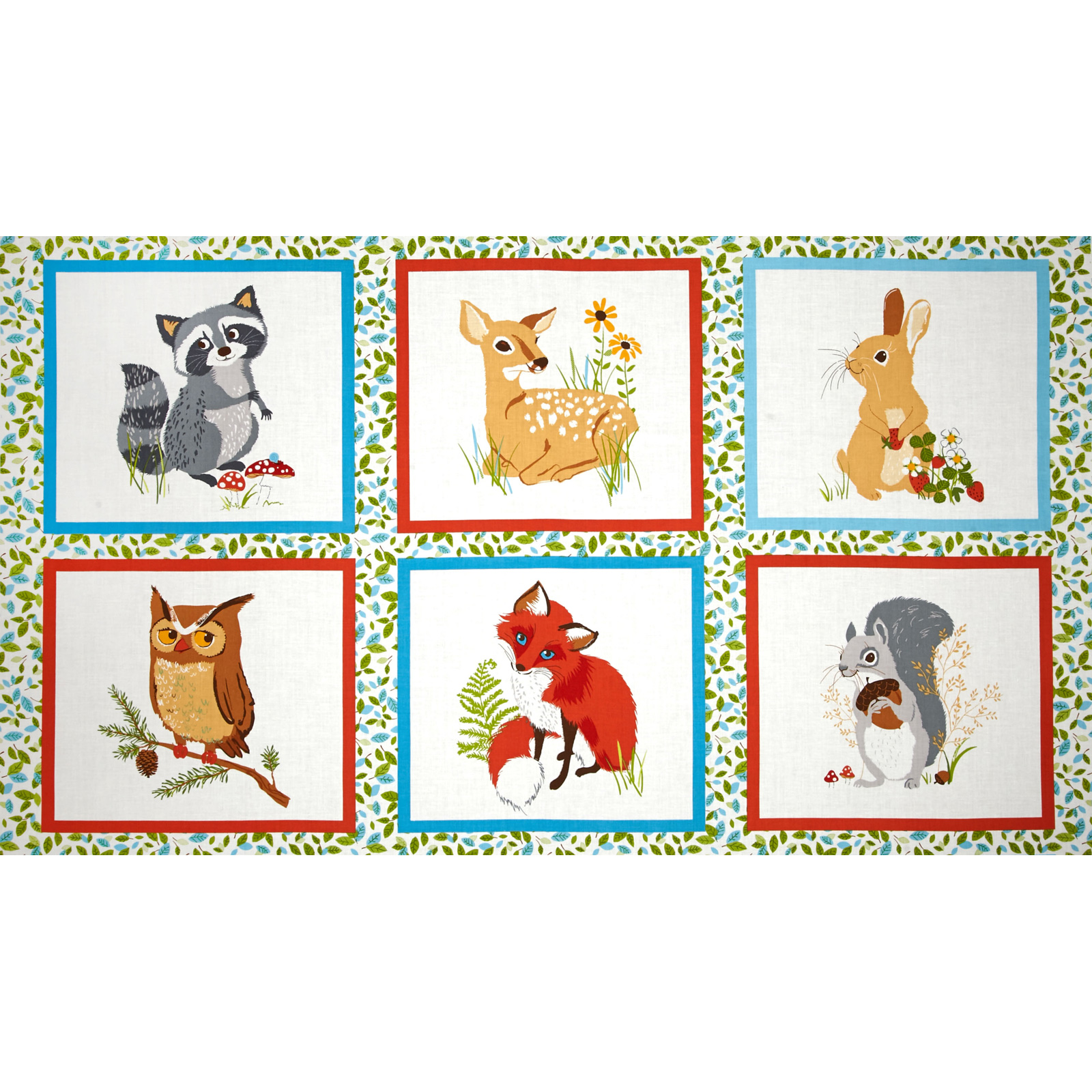 Image of Kaufman Forest Fellow 24 In. Block Panel Wild Fabric