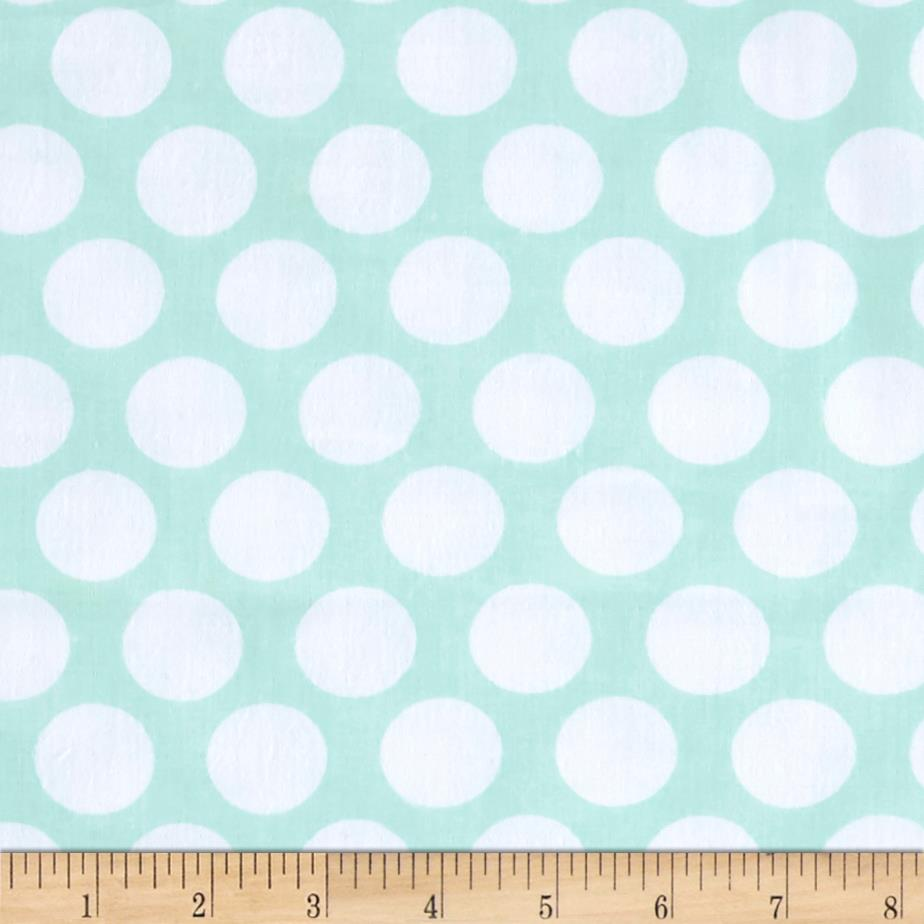 Kaufman Little Prints Double Gauze Dots Mint/White