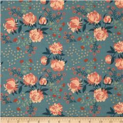 Acorn Trail Peonies Blue