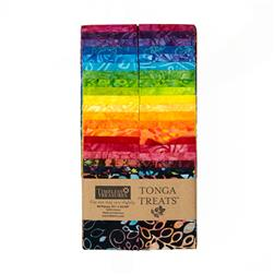 "Timeless Treasures Tonga Batik Treats Rainbow 2.5"" Strips"