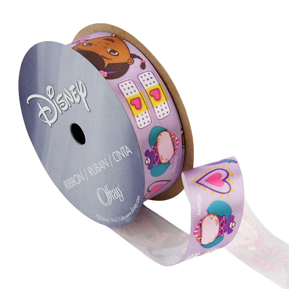 7/8'' Doc McStuffins Ribbon One Hug White