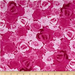 Kanvas English Rosey Rose Garden Fuchsia Fabric