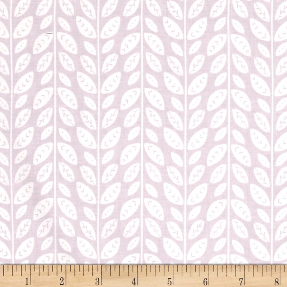 Josephine Tonal Leaves Lilac Grey