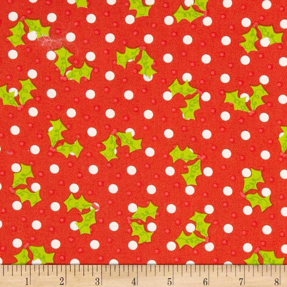 Christmas Tossed Holly Red