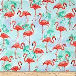 Robert Kaufman Flamingo Paradise Flamingos Water
