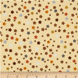 Love Me Teddy Bear Stars Beige