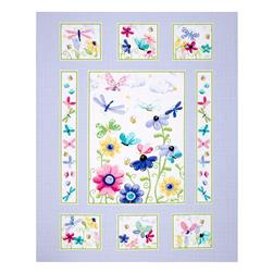 "Flutter the Butterfly 35.5"" Panel Lilac"