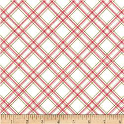Maywood Studio Kimberbell Basics Diagonal Plaid Pink/Green