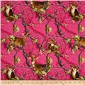 Realtree Deers Allover Fuchsia